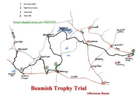 Beamish Trophy Trial Map Amp Accomodation